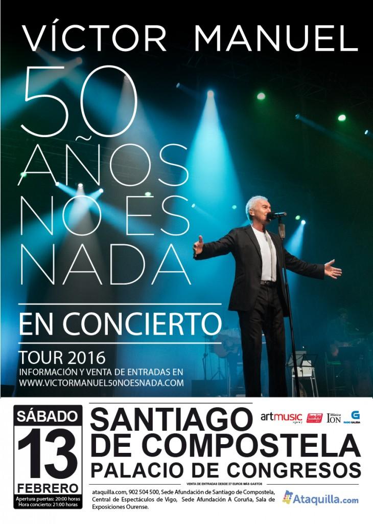 V ctor manuel en concierto 50 a os no es nada palacio for Conciertos en santiago 2016